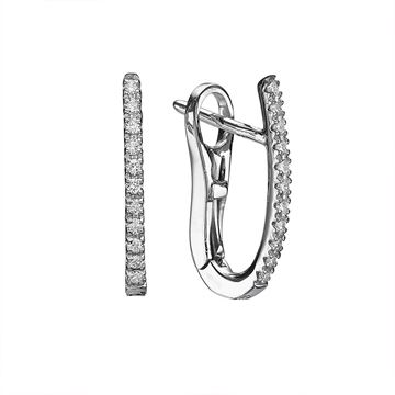 White Gold Hoop Earings