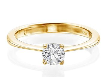 white gold four Prong Solitaire Ring