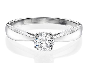 תמונה של Cathedral Solitaire Ring 0.30ct