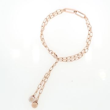 תמונה של 18K Rose Gold Square Link Bracelet