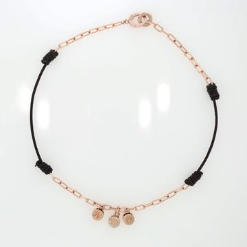 תמונה של 18K Rose Gold And Cotton Choker